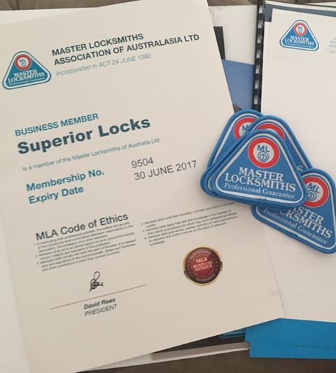 Proud New Member of Master Locksmiths